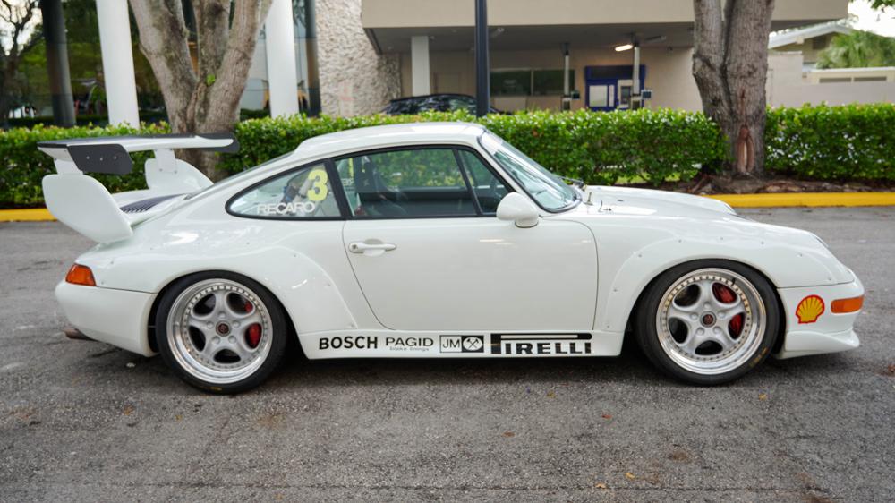A 1995 Porsche 911 Cup 3.8 RSR Evo race car.