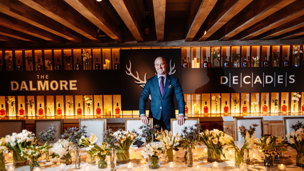 Craig Bridger, head of advocacy for Dalmore, hosting the Damlore Decades dinner at Wally's Wine & Spirits in Santa Monica, Calif.