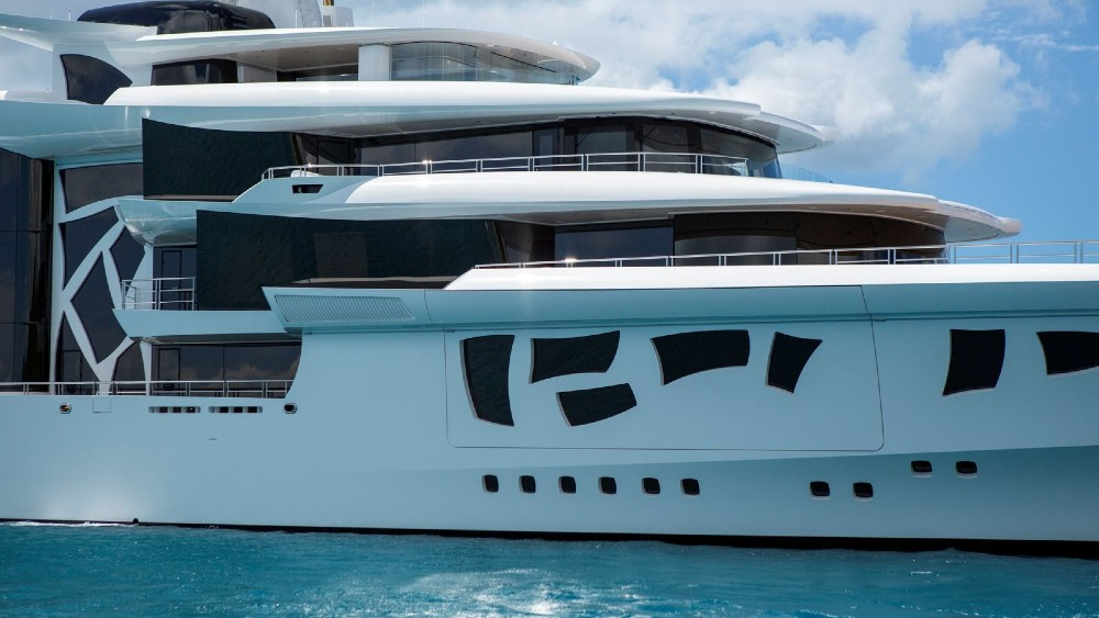 The superyacht Artefact has a whimsical interior and exterior, but is also one of the most technically sophisticated yachts on the water.