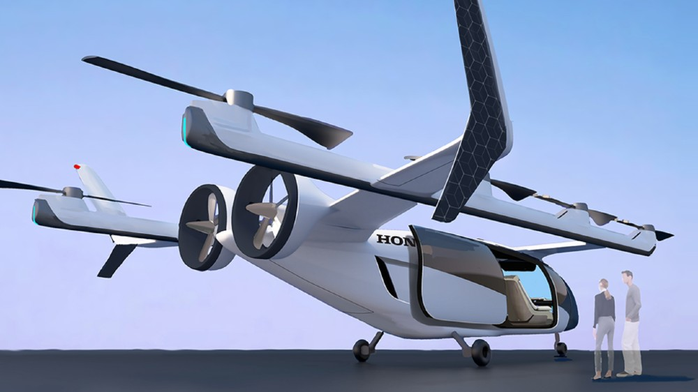 Honda introduced a new vertical takeoff and landing aircraft