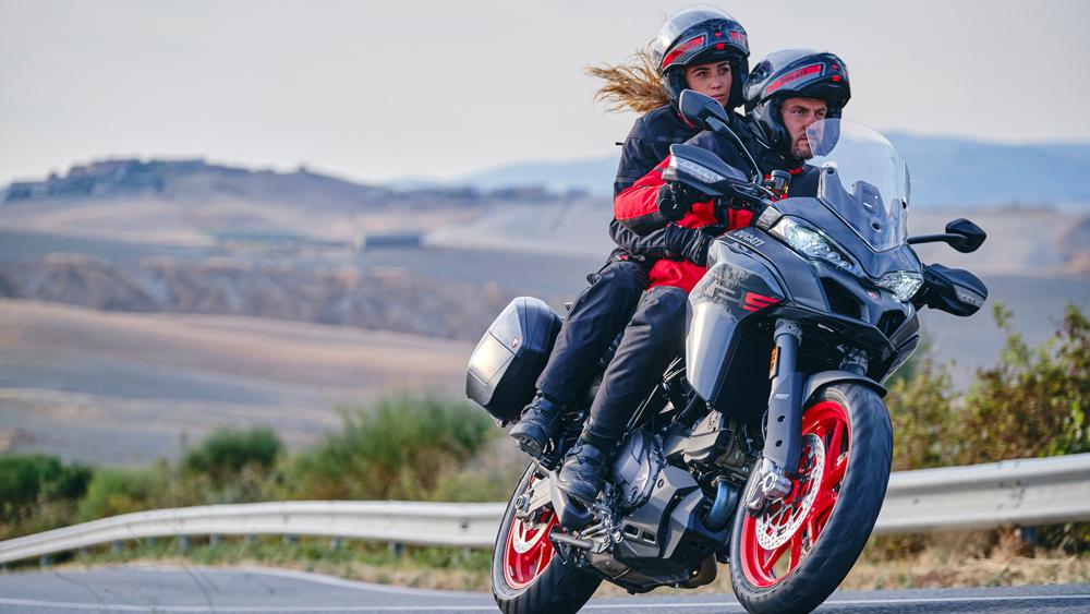Riding the 2022 Ducati Multistrada V2 motorcycle.