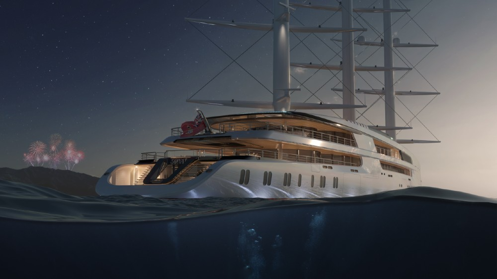 Project Sonata would be the largest super sailing yacht in the world.
