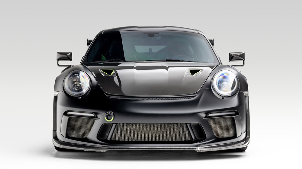 A Porsche 911 GT3 RS that's been customized by Global Motorsports Group.