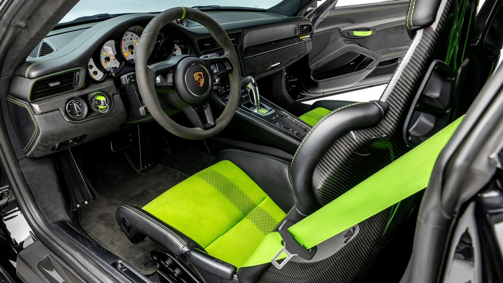 The interior of a Porsche 911 GT3 RS that's been customized by Global Motorsports Group.