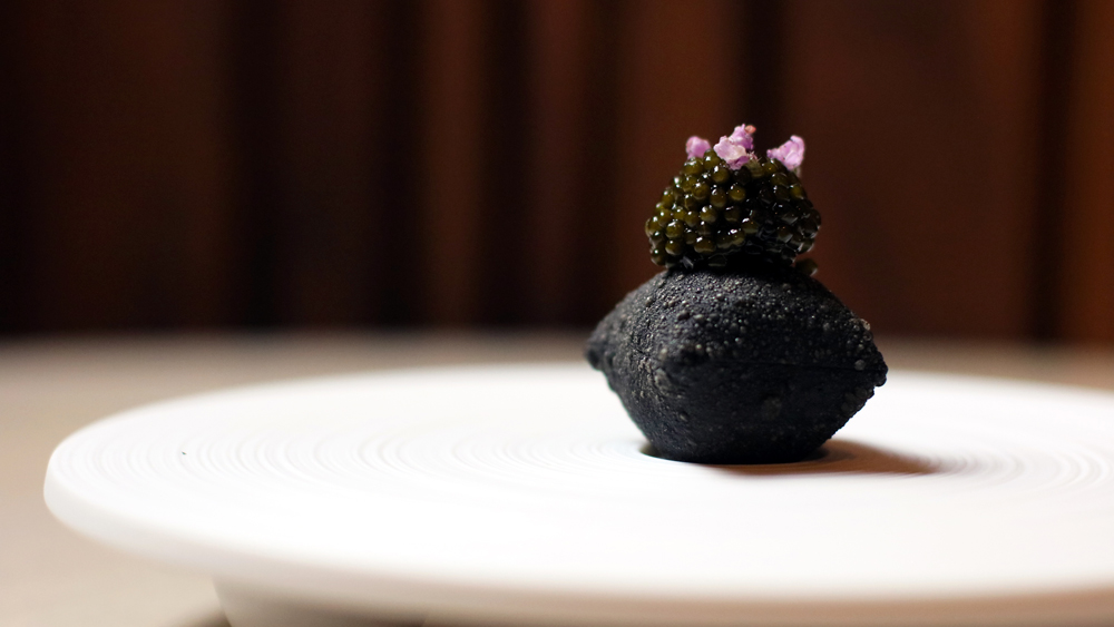 caviar and aged beef melisse