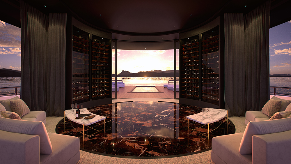 Forget Pools and Cinemas: Artful Wine Cellars Are the Latest Must for Yacht Owners