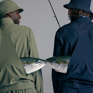 Models wear pieces from P. Johnson's angling collection.
