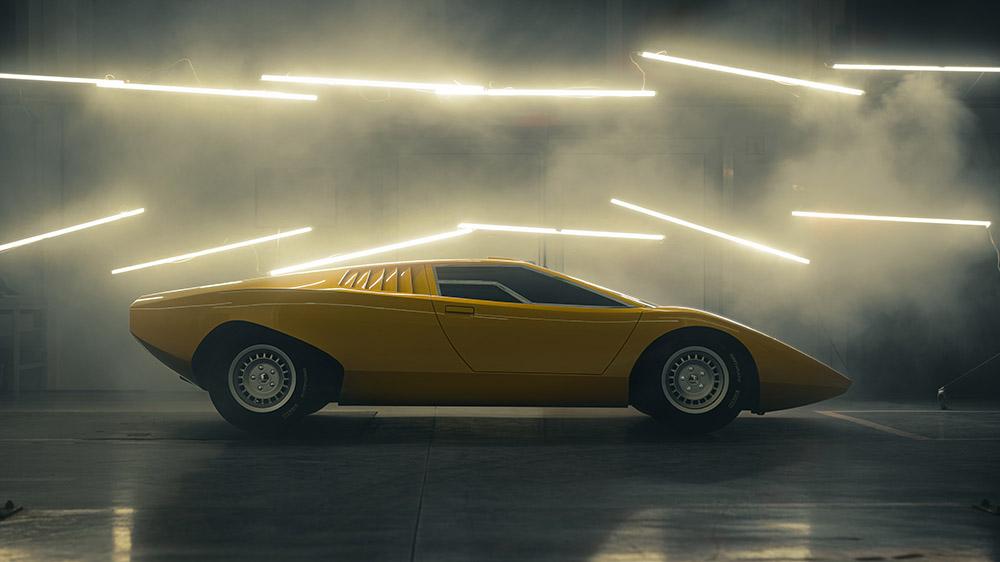 The Lamborghini Countach LP500 reconstruction
