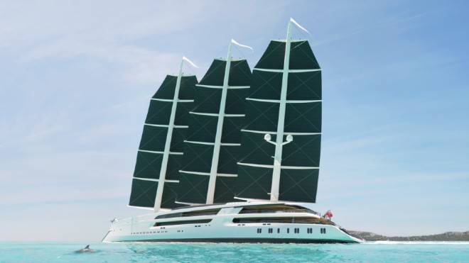 The sailing superyacht Sonata is an amalgam of different superyacht features.