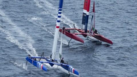 France SailGP Team and Great Britain SailGP Team
