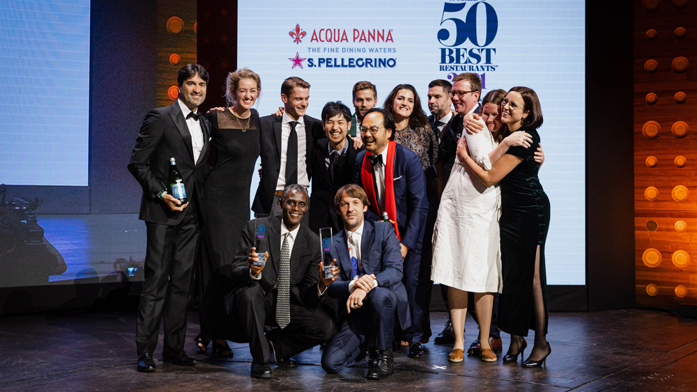 noma accepting world's 50 best award