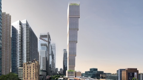 A rendering of The Affirmation Tower