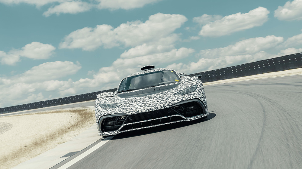 A Mercedes-AMG One prototype undergoing testing in 2019