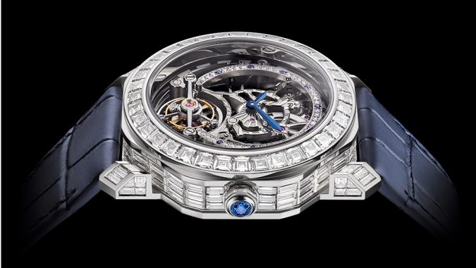 Bulgari's Latest Limited-Edition Watch Is a Tourbillon Set With Hundreds of Diamonds