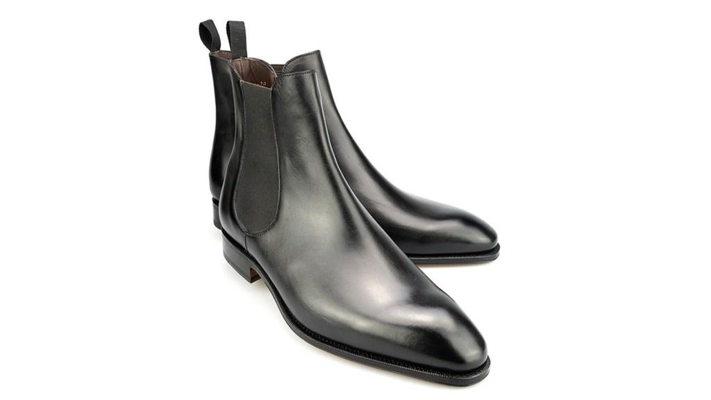 carmina black leather chelsea boots