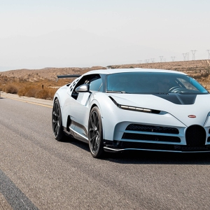 The Bugatti Centodieci undergoing hot-weather testing in the American Southwest