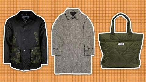 Barbour x Bape jacket, Trunk coat, Junya Watanabe bag