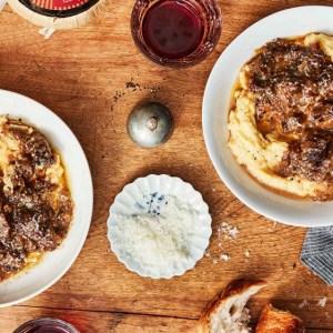 short rib ragu over polenta