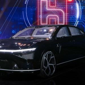 Foxtron Model E sedan