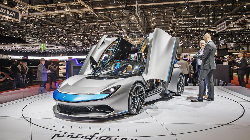 The Pininfarina Battista at the Geneva International Motor Show in 2019