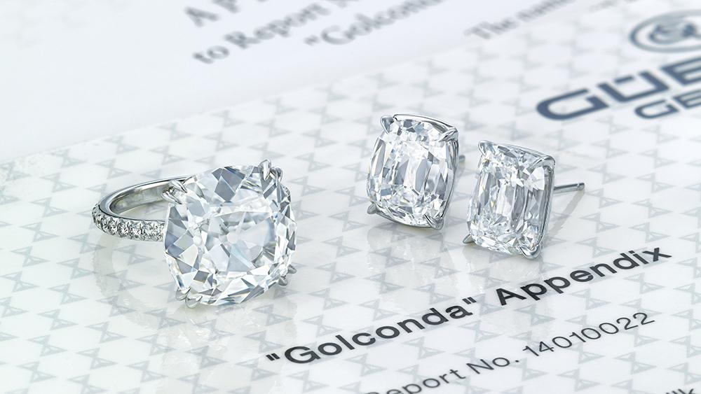 Golconda Diamond Ring and Earrings